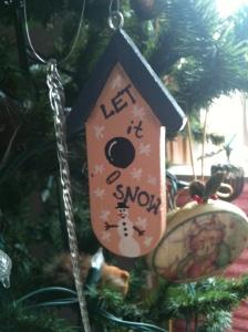 Wooden Birdhouse Ornament