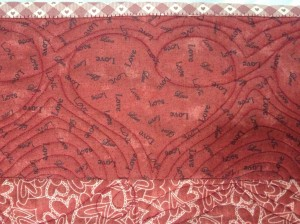 Love cabin - heart border