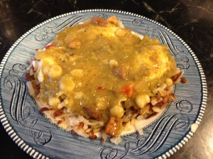 Green Chili smothered skillet